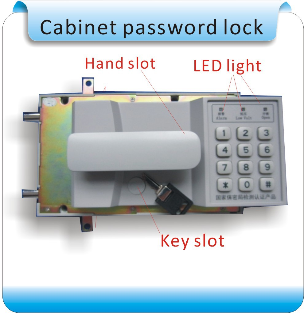 Newset High quality files cabinet combination lock/password combination lock/batter (4XAA)(China (Mainland))