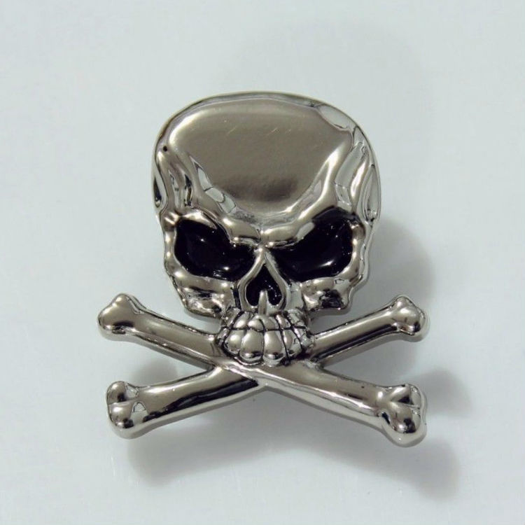 Wholeslae! 50pc Cowboy Decor Skull Crossbones Conchos Leathercraft Silver(China (Mainland))