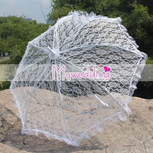 Бесплатная доставка дешевые белые кружева зонтик свадебные кружева зонтик зонтик