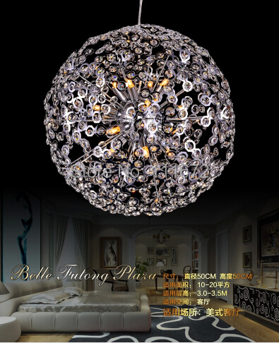 hot selling  contemporary dinning room crystal pendant lights Dia500*H500mm, modern lighting(China (Mainland))