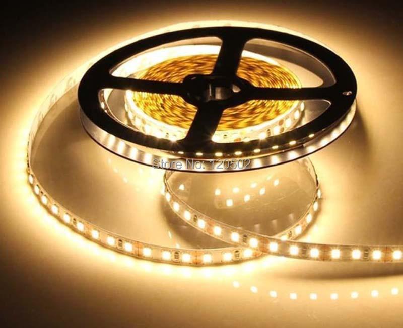 12V 120LED/m 5m/lot 2835 LED strip flexible lightBrightness as 5050 Non-Waterproof low power high brightness 2835 120 led strip(China (Mainland))