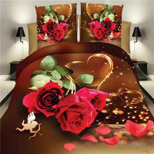 Pattern Bedding 3D Sheets Lily Tuberose Rose Flowers Painting Twin/Full/Queen/King Size Bed Sets Bedclothes EMS Free Shipping(China (Mainland))
