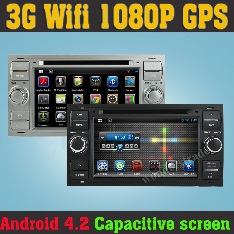 android 4 2 car dvd player radio gps navigation for ford. Black Bedroom Furniture Sets. Home Design Ideas