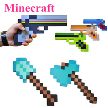New Minecraft Toys Foam Sword Pick Axe Gun Minecraft Game Weapons Model Toys Kids Toys Birthday & Christmas Gifts 18-23 inch(China (Mainland))