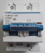 5 peice воздушный выключатель питания 2 P 0-100a DC 440 В автоматический выключатель YJBz1-125