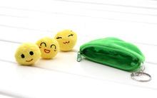 Verde pisello fagioli bambola bambola di peluche ripiena giocattolo portachiavi pendente del sacchetto bambola 10 cm trasporto libero(China (Mainland))