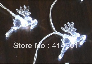 New Year white ice reindeer LED battery Christmas holiday lights flashing  wedding bar shop decoration lamp String light 20