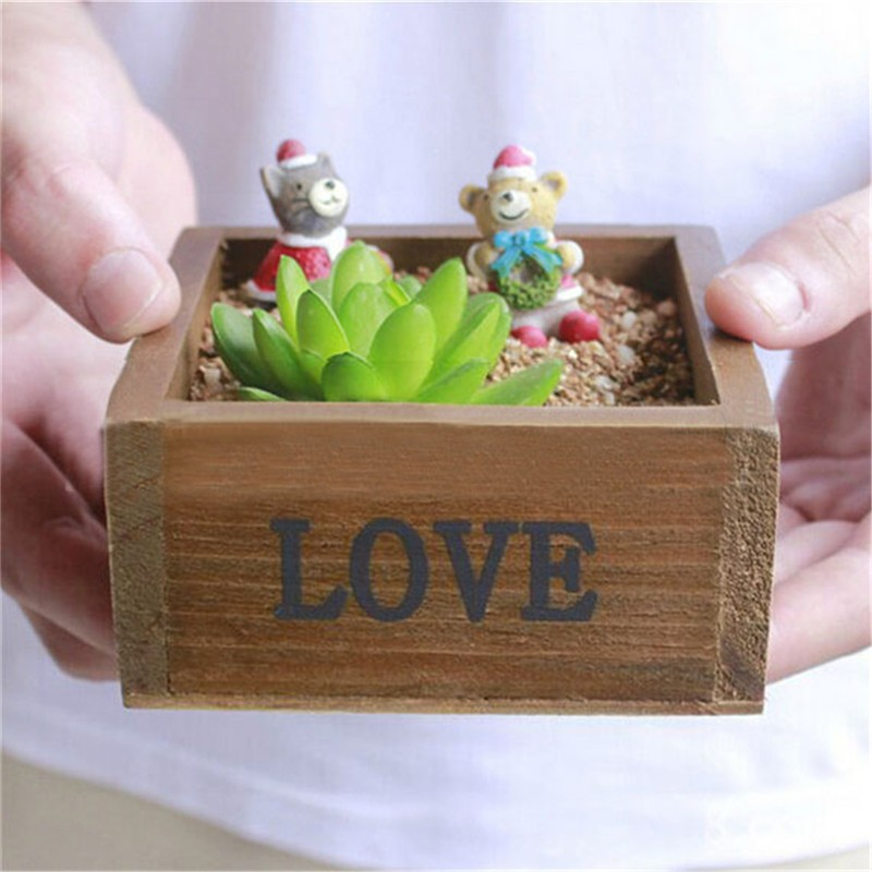 Plant Tray Case Holder Classical Style Treasure Chests Vintage Retro Wooden LOVE Jewelry Antique Trinket Storage Box(China (Mainland))