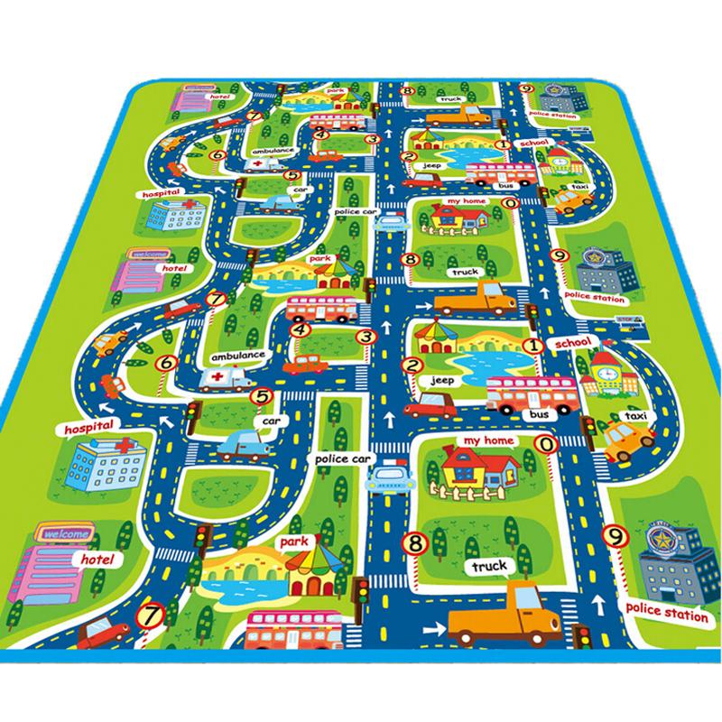 [해외]높은 품질의 아기 놀이 매트는 매트 도시 스타일의 어린이 카..