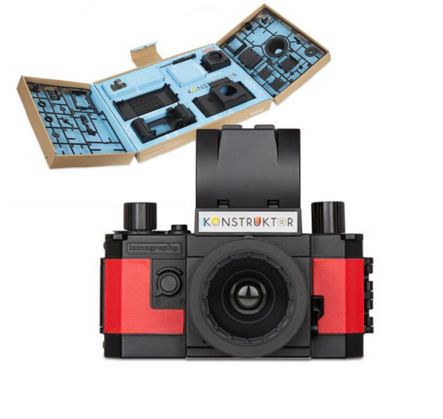 Konstruktor DIY 35mm camera handmade retro film camera authentic DIY camera 50mm f / 10 lens free shipping(China (Mainland))