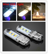 Xiaomi 3SMD DC5V 1.5W Mini USB Camping outdoor Hiking Night Light Shining Reading desk table book light for Power bank comupter