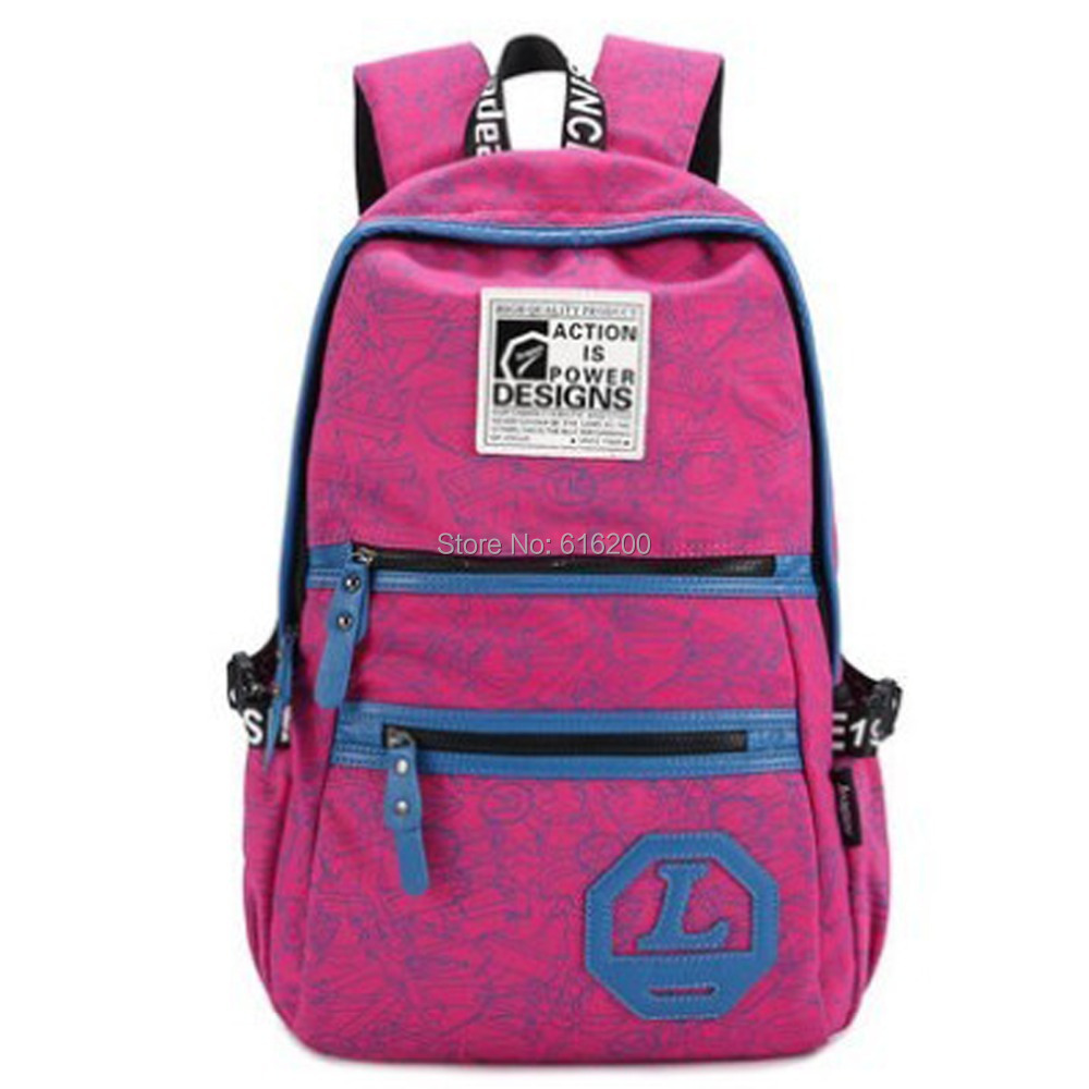 Unisex Canvas School Backpack Super Cute College Bag ...