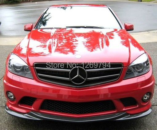 2009-2010 W204 C63 AMG style carbon fiber car front lip for benz,auto front bumper lip for W204 C63(09-10)