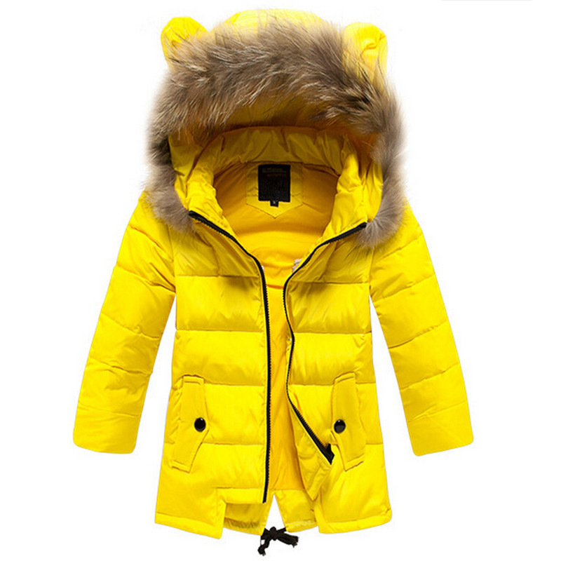 Winter White Down Jacket For Girls 2015 New Fashion Kids Coat Jackets Ears Hooded Children Clothing Clothes Long Vetement Fille<br><br>Aliexpress