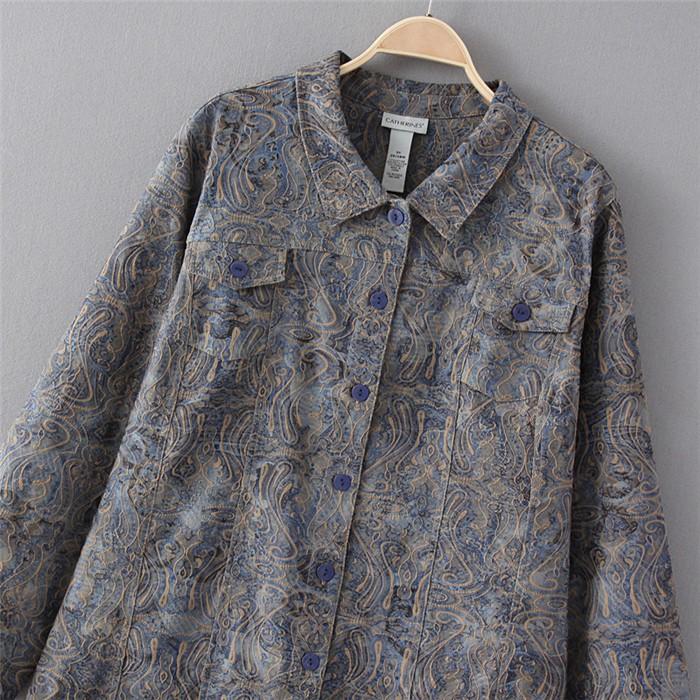 2XL-9XL Большой размер женщин Embrodery куртки топ пиджаки большой большой размер сверхразмерные 4XL 5XL 6XL 2016 весна