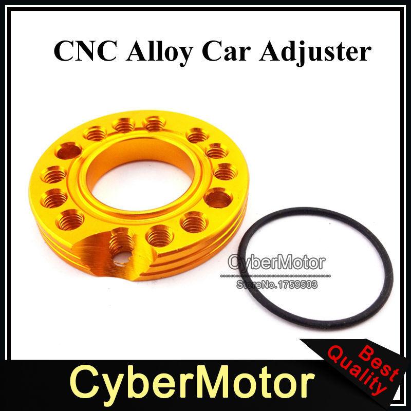 28mm Carburetor Adjuster Carb Inlet Intake Manifold Spinner Plate For 110cc 125cc Engine Pit Dirt Bike Monkey Dax ATV Quad Gold(China (Mainland))
