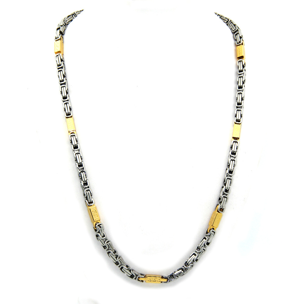 2015 New Fashion punk cool men Gold Silver Tone Stainless Steel lobster clasp 6mm Hot sale Chain Necklace jewelry(China (Mainland))