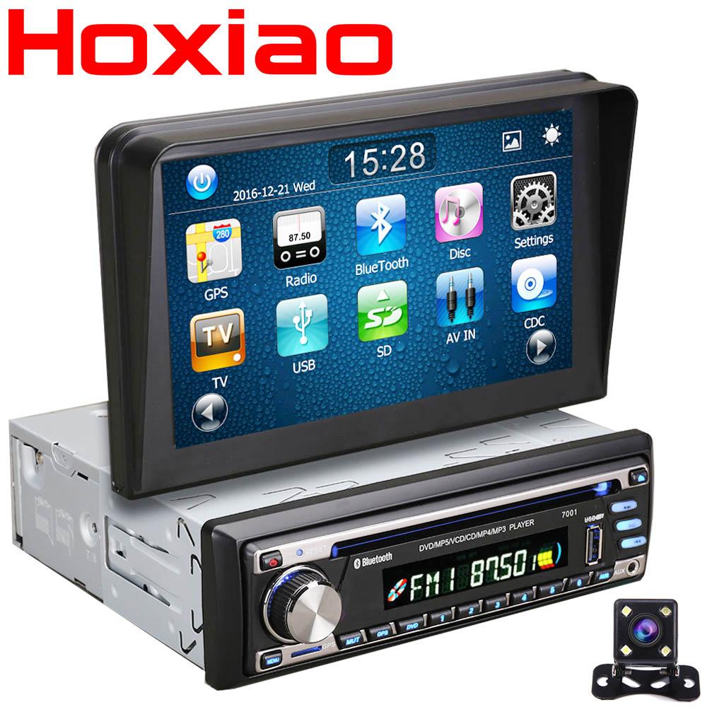 Car dvd gps player 1 din radio bluetooth universal 1din auto radio gps navigation system for Kia passat jetta Peugeot audi vw(China (Mainland))