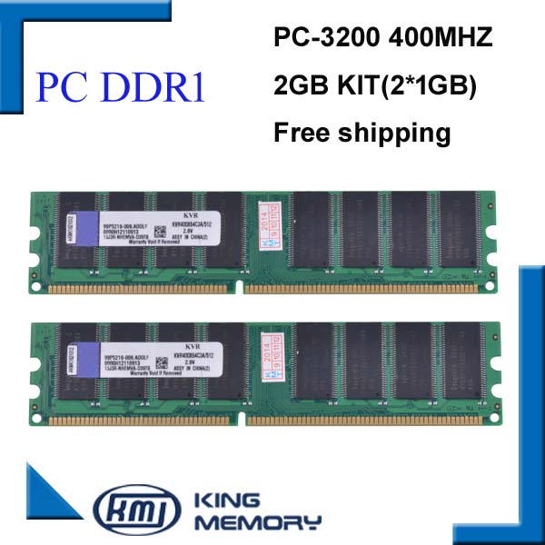 Brand New Ram DDR1 2GB kit(2*DDR1 1GB) 400MHZ PC3200 LONGDIMM support all motherboard lifetime warranty free shipping(China (Mainland))