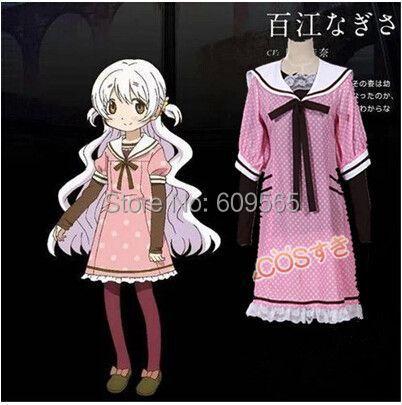 Здесь можно купить  Free shipping!Puella Magi Madoka Magica Momoe Nagisa Cosplay Costume Shirts, skirts, tie, socks  Одежда и аксессуары