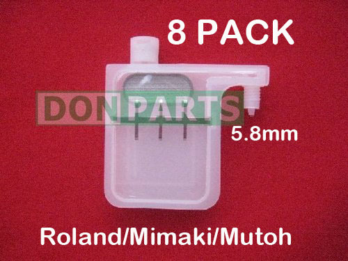 8 x Large Volume Ink Damper for Roland RS640 Mutoh ValueJet 1604E 1604W 1608 2606 DX5 printer heads New(China (Mainland))