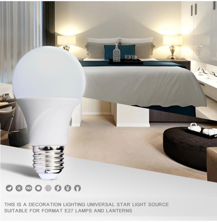 LED Bulb Lamps E27 220V-240V Light Bulb Smart IC Real Power 3W 5W 7W 9W 12W 15W High Brightness Lampada LED Bombillas