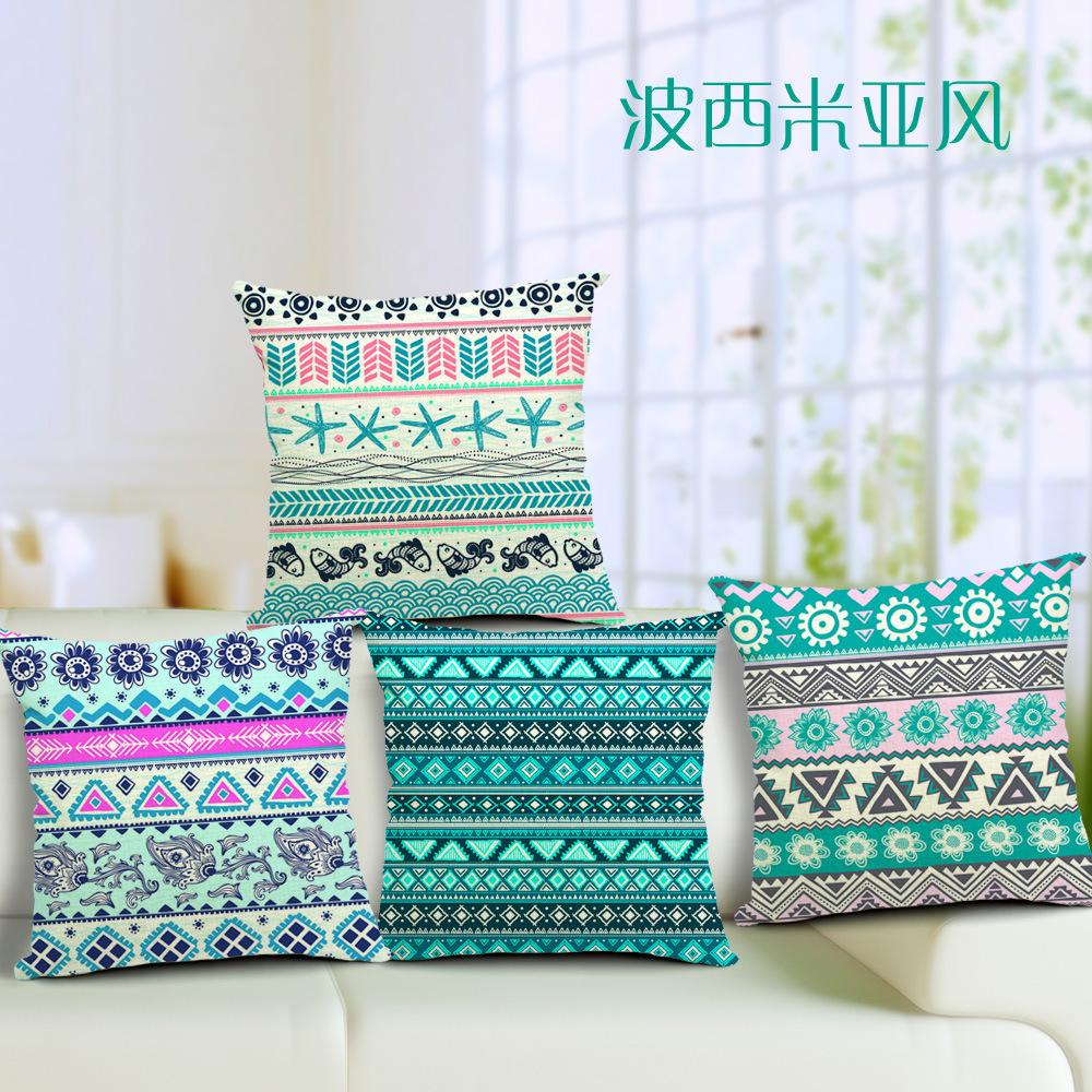 Beautiful Bohemian Style Colorful Geometric Cushion Home Car Bar Cafe Decoration Throw cushion