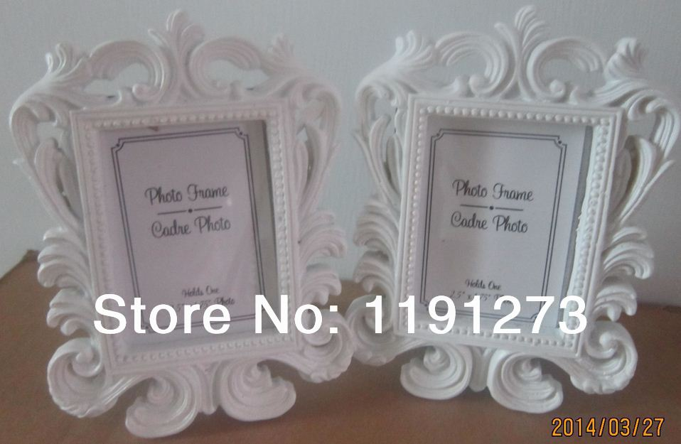 White Baroque photo frame 15PCS/LOT wedding place card holder Free shipping picture frames(China (Mainland))