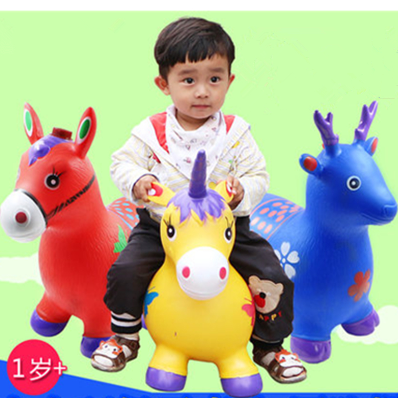 New Arrival 24 kinds of animals Children's inflatable toys jumping horse Maccabees thick increase environmental music baby