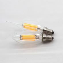 Buy 16pcs/lot E14 LED Lamp Filament Glass Housing COB Corn Blub 110V/220V 2W 4W 6W Light Retro Tungsten Candle Chandelier Lighting for $109.57 in AliExpress store