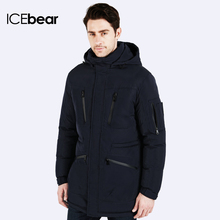 ICEbear Winter Long cotton Jacket Coat Napapijri Parka Chaqueta Plumas Men Brand Covery Young Black 15M161D(China (Mainland))