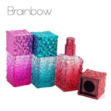 20ml Water Cube Design Empty Perfume Bottles Atomizer Spray Glass Refillable Bottle Spray Scent Case with Travel Size Portable(China (Mainland))