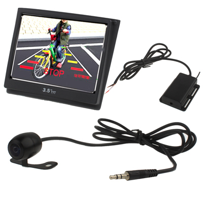 3.5 inch TFT Color Mirror LCD Car Rearview Screen Monitor + Waterproof Night Vision Wireless Rear Backup Camera(China (Mainland))