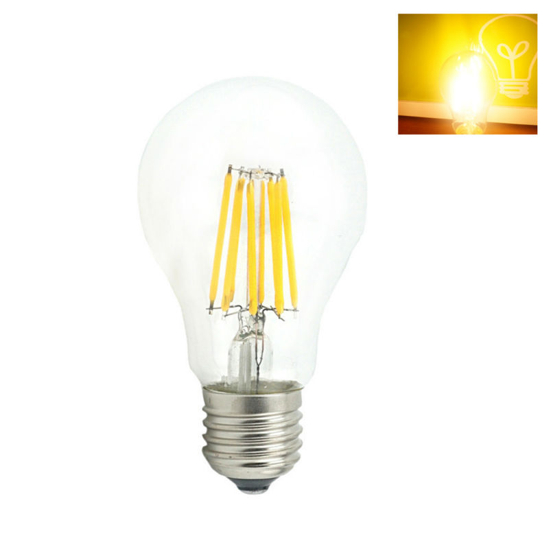 1x E27 LED Filament Light Bulb Lamps 230V 220V 4W 8W 12W Chandelier Candle Lamp Lighting Edison Cool White/ Warm white(China (Mainland))