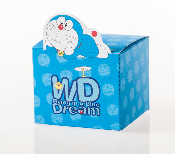 free shipping 50pcs/lot Size 7.5*6*6cm Classic Doraemon Candy Box For 2014 Originality Product Best Gift For Party Birthday()