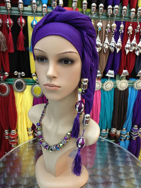 2013  wholesale fashion hijab the square hijab  yarn gradient color beaded scarf Arab headscarf