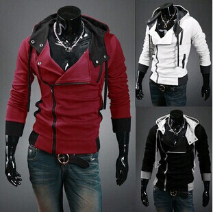 Free shipping 2015 Autumn and Winter Fashion Slim Cardigan Hoodies Sweatshirt Outerwear jackets Men.Brand Causal Sports(China (Mainland))