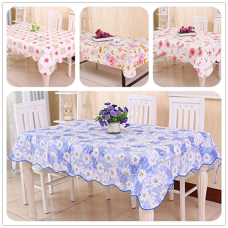 Waterproof and Oilproof tableclothes Pastoral style table cloth printed PVC table cover flower PEVA table cover for home SYH0041(China (Mainland))