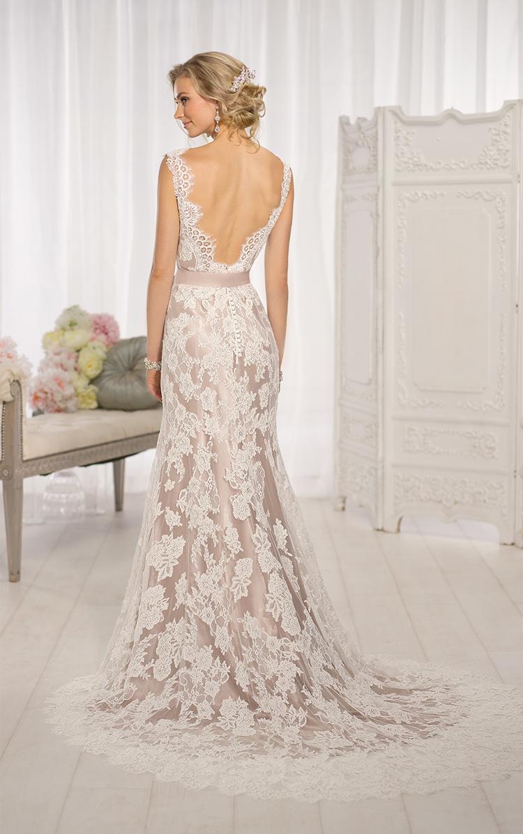 Cut Out Back Lace Wedding Dresses
