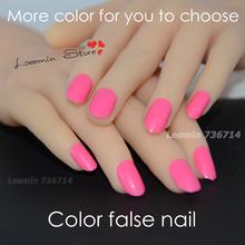 2015 color  false nail , round false nail  24 pcs/ set