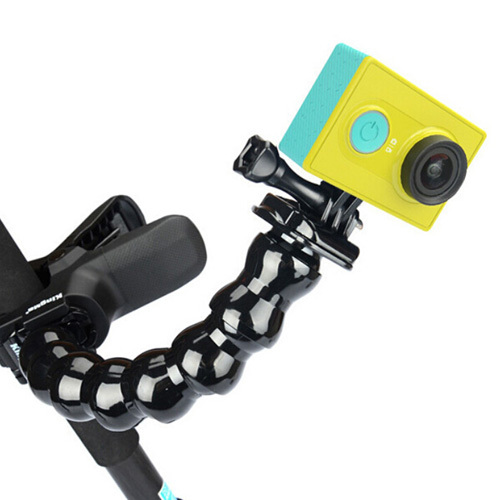 Xiaomi Yi Action Camera Accessories Jaws Flex Clamp Flexible Monopod Mount Tripod and Adjustable Neck for Gopro SJ4000 Xiaoyi(China (Mainland))