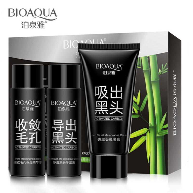 BIOAQUA Brand Face Black Head Remover Skin Care Mask Set Facial Peeling Off Blackhead Deep Cleansing Acne Treatment Masks(China (Mainland))