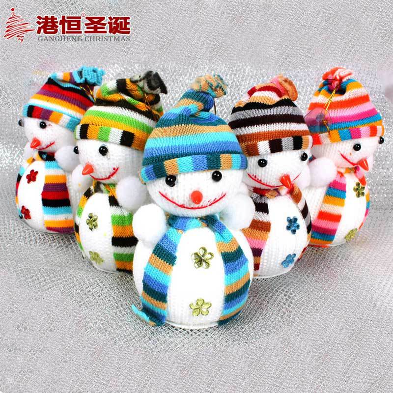 Christmas Tree Decoration Christmas Gift 14 * 10cm Snowman Doll Christmas Tree Ornaments New Year Decorations Toy 5pcs/lot(China (Mainland))
