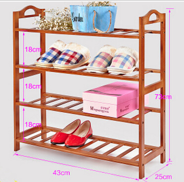 Simple small shoe rack bamboo storage multilayer shoe rack(China (Mainland))