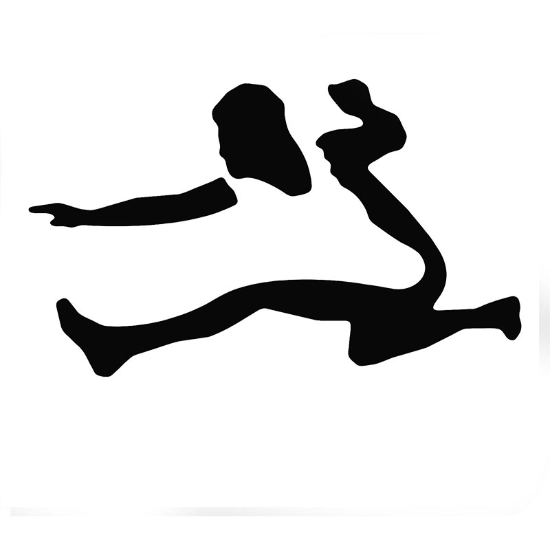 Wholesale 50pcs/lot Factory outlets Olympic Athletes Hurdle Running Silhouette Car Sticker for SUV Auto Door Vinyl Decal 9 Color(China (Mainland))