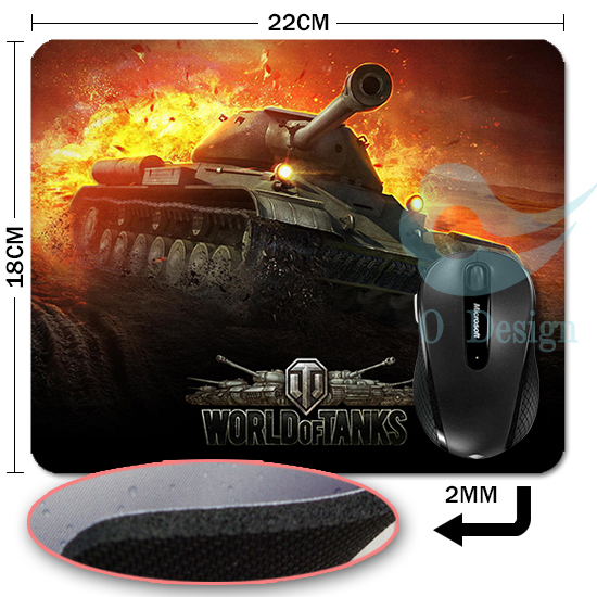 2015 new World of tanks mouse pad Hot sales mousepad laptop mouse pad razer notbook computer