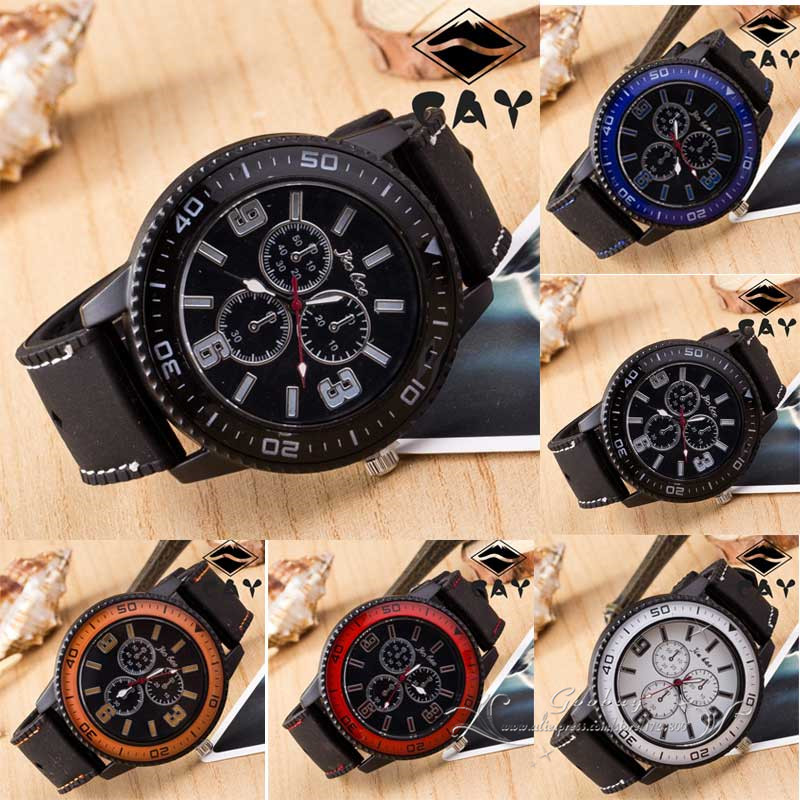 Hot Sale Fashion Casual 5 Colors Silicone Hiking Cycling Sports Leisure Wristwatches Watch Clock for Man Boys Male Student<br><br>Aliexpress