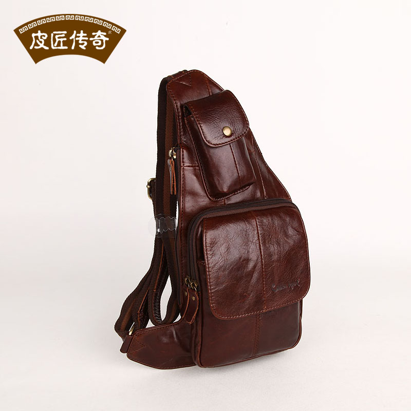 Quality! Genuine cowhide leather waist pack brief fashion 2013 spring the trend man bag 803176<br><br>Aliexpress