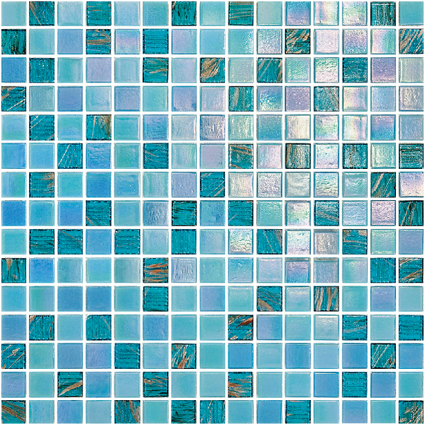 Blue iridescent glass swimming pool tile kitchen bathroom for Swimming pool wall tiles
