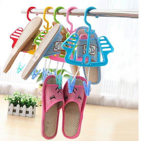 3595-1 drying socks clip shoe rack with multi-sun drying shoe rack shoe rack movable hanging shoe rack creative versatility(China (Mainland))